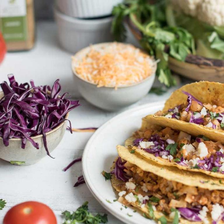 Sauteed Cauliflower Mild Tacos Simply Organic
